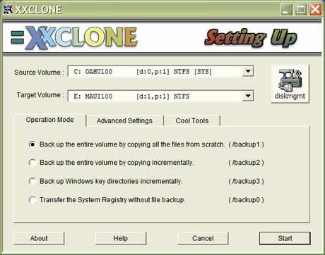 clonar disco duro Clonar particiones de Windows con XXClone