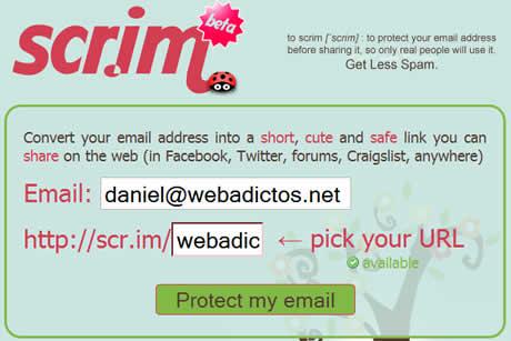 Compartir tu correo de manera segura con Scr.im - proteger-correo-electronico