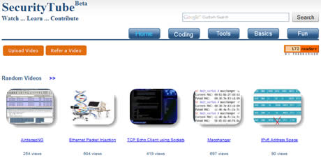 Videos de seguridad informatica en SecurityTube - seguridad-informatica
