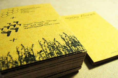 Diseños de tarjetas de presentacion en Card Observer - diseno-de-tarjetas-flores