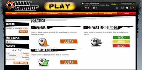 Juegos de futbol online, PowerSoccer - juegos-futbol-online