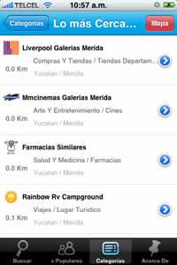 negocios mexico Restaurantes de mexico y otros negocios en tu iPhone