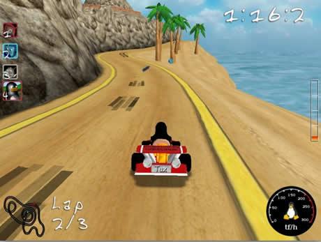 juegos de autos Juegos de carreras, SuperTuxKart
