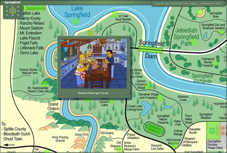 Los simpsons, mapa interactivo de springfield - los-simpsons-springfield-mapa