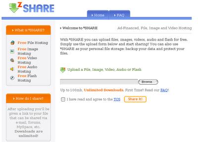 Compartir y respaldar archivos en zSHARE - Zshare