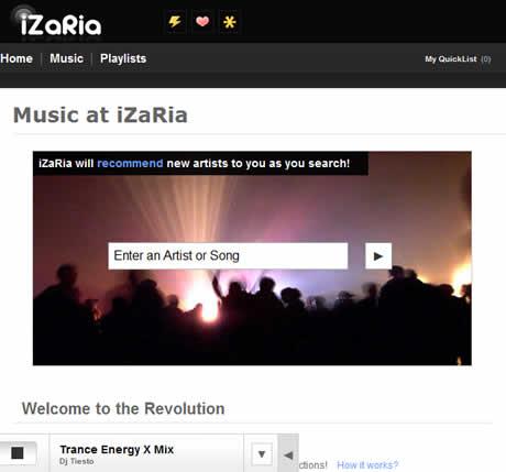 escuchar musica y descargar musica Escuchar musica online y descargarla en iZaria
