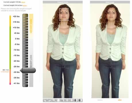 Perder peso virtualmente en WeightMirror - perder-peso-virtual