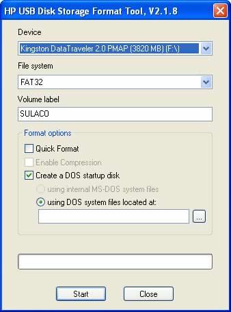 recuperar usb Recuperar usb con HP USB Disk Storage Format Tool
