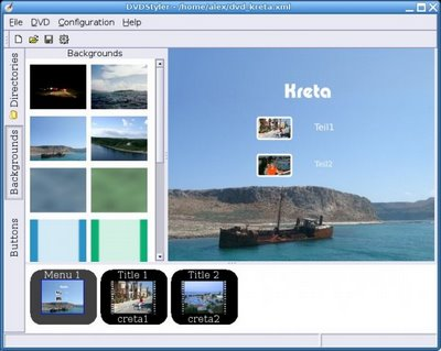 Crea Menús Para Videos Con DVDStyler - Interfaz-DVDStyler