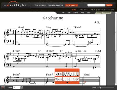 """Crea y Compone Notas Musicales En Línea """"Noteflight"""" - Interfaz-Noteflight"""