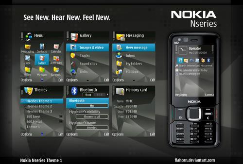 7 Bonitos temas para Nokia-Symbian - Nokia_Nseries_Theme1