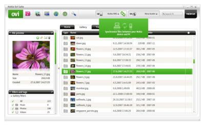 Sincronizar Nokia Con La Pc Con Nokia Ovi Suite - Vista-De-Nokiaovisuite