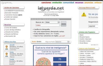 lacuerda.net La Letra De Tu Canción Favorita En La Cuerda.net