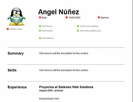 Curriculum online, crealo en CeeVee - curriculum-en-linea