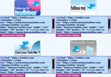 botones twitter Botones Twitter para tu sitio web facilmente en BotonesTwitter.com