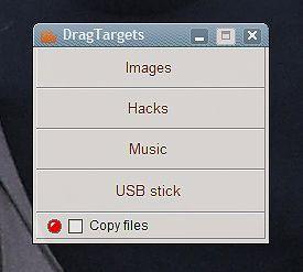 Copiar archivos a carpetas populares con DrapTargets - copiar-archivos