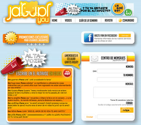 mensajes gratis celular Mensajes gratis a celular (telcel) en Jaguaryou