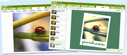 picnik screenshots Edita fotos con Picnik