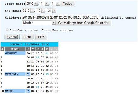 Crear calendarios con Compact Calendar Creator - calendario-2010