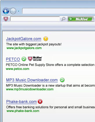 enlaces maliciosos Detectar enlaces maliciosos con McAfee SiteAdvisor