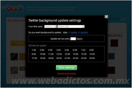 fondos twitter Actualizar tu fondo twitter automaticamente con Twiback