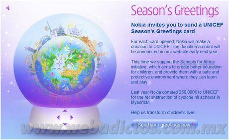 tarjetas navidad Tarjetas de navidad, Nokia Season's greetings