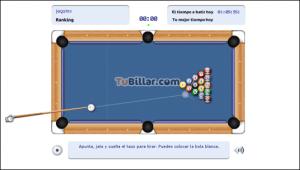 Billar juego en línea, con TuBillar