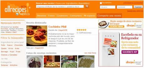 recetas cocina allrecipes Recetas de cocina en AllRecipes México
