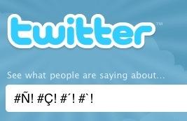 Twitter ya acepta caracteres especiales en los hashtags - Twitter_car_esp