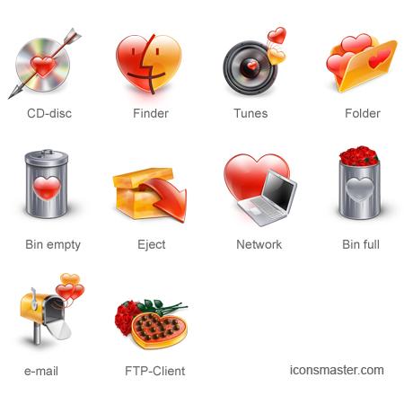Dia del amor, iconos y vectores gratis - iconos-amor-y-amistad
