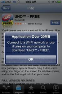 ipoddescargas20mb 200x300 Apple incrementa el límite de descargas vía 3G de sus tiendas iTunes y AppStore