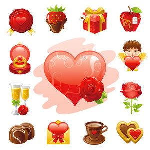 vectores amor y amistad Dia del amor, iconos y vectores gratis