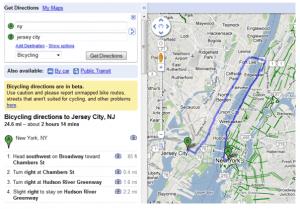 Captura de pantalla 2010 03 11 a las 15.40.50 300x209 Google Maps añade rutas en bicicleta