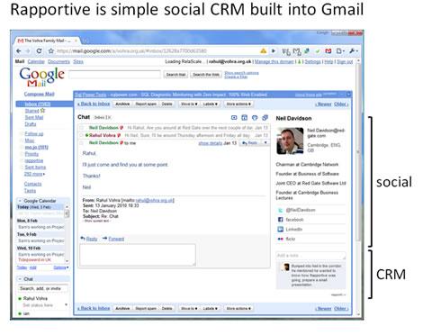 Convierte en CRM tu gmail con Rapportive - crm-gmail