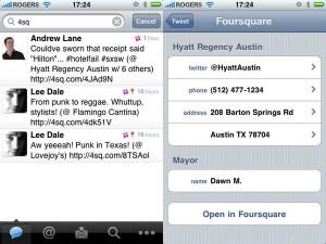 Tweetie 2 ahora integra Foursquare - tweetie-2-foursquare-300x225