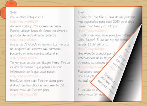 Twitario, visualiza tweets en forma de diario - twitario_ejemplo