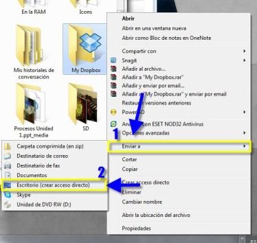 Acceso 22 Como crear accesos directos de cualquier aplicación, carpeta o archivo en Windows