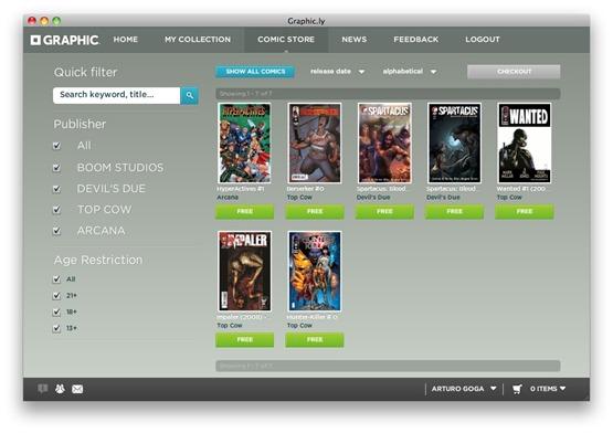 Screenshot20100417at8.48.27AM Graphic.ly, un lector para comics para Mac y Windows