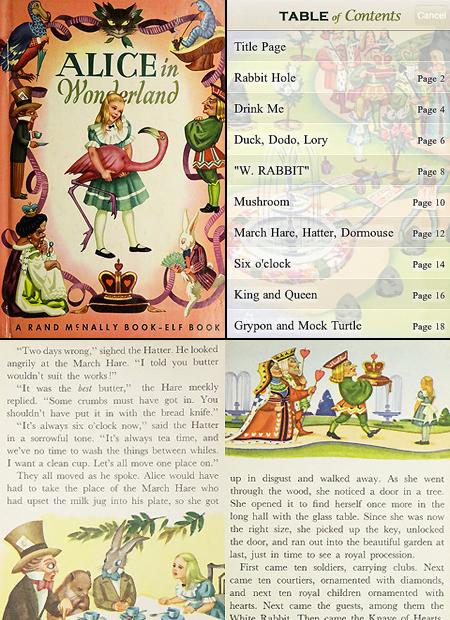 El e-book Alicia para el iPad luce excelente - alice_in_wonderland_storybook