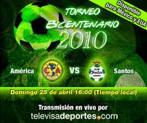 America vs Santos en vivo, Bicentenario 2010 - america-santos-en-vivo