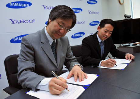 Samsung y Yahoo amplían su acuerdo de servicios - yahoo-samsung