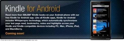 Amazon libera aplicación de Kindle para Android - AndroidKindle
