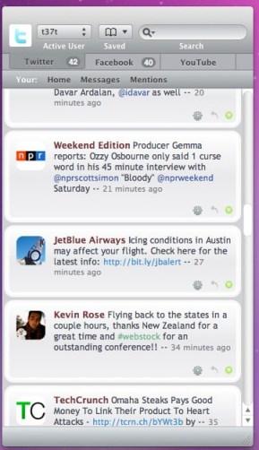 Babble, controla Twitter, Facebook y Youtube con una sola aplicación - Babble-3