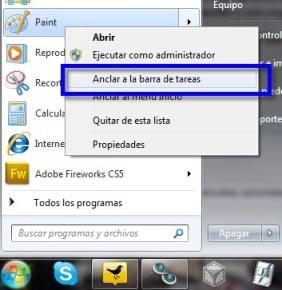 Como agregar programas a la barra de tareas de Windows 7 - Barra-de-tareas