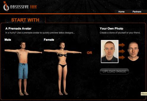 Captura de pantalla 2010 05 12 a las 10.20.10 Obssesiveink, un sitio web para probar tatuajes