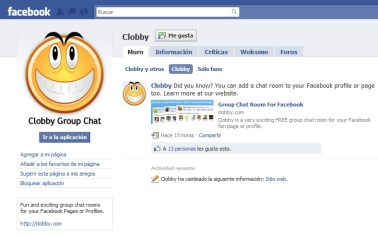 Clobby, chat en grupo en Facebook - clobby-en-facebook