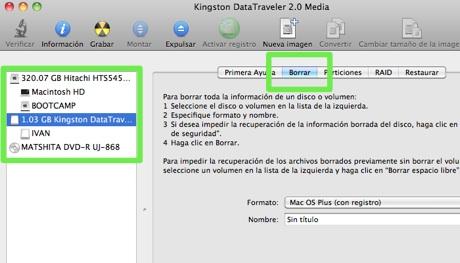 como formatear disco mac usb 1 Como formatear en Mac