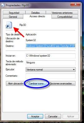 Como crear el acceso directo de Flip 3D en Windows - flip3d-3