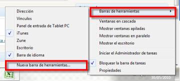 Agrega la barra de Inicio rápido a la barra de tareas en Windows 7 - inicio-rapido-1