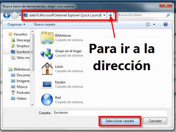 Agrega la barra de Inicio rápido a la barra de tareas en Windows 7 - inicio-rapido-21
